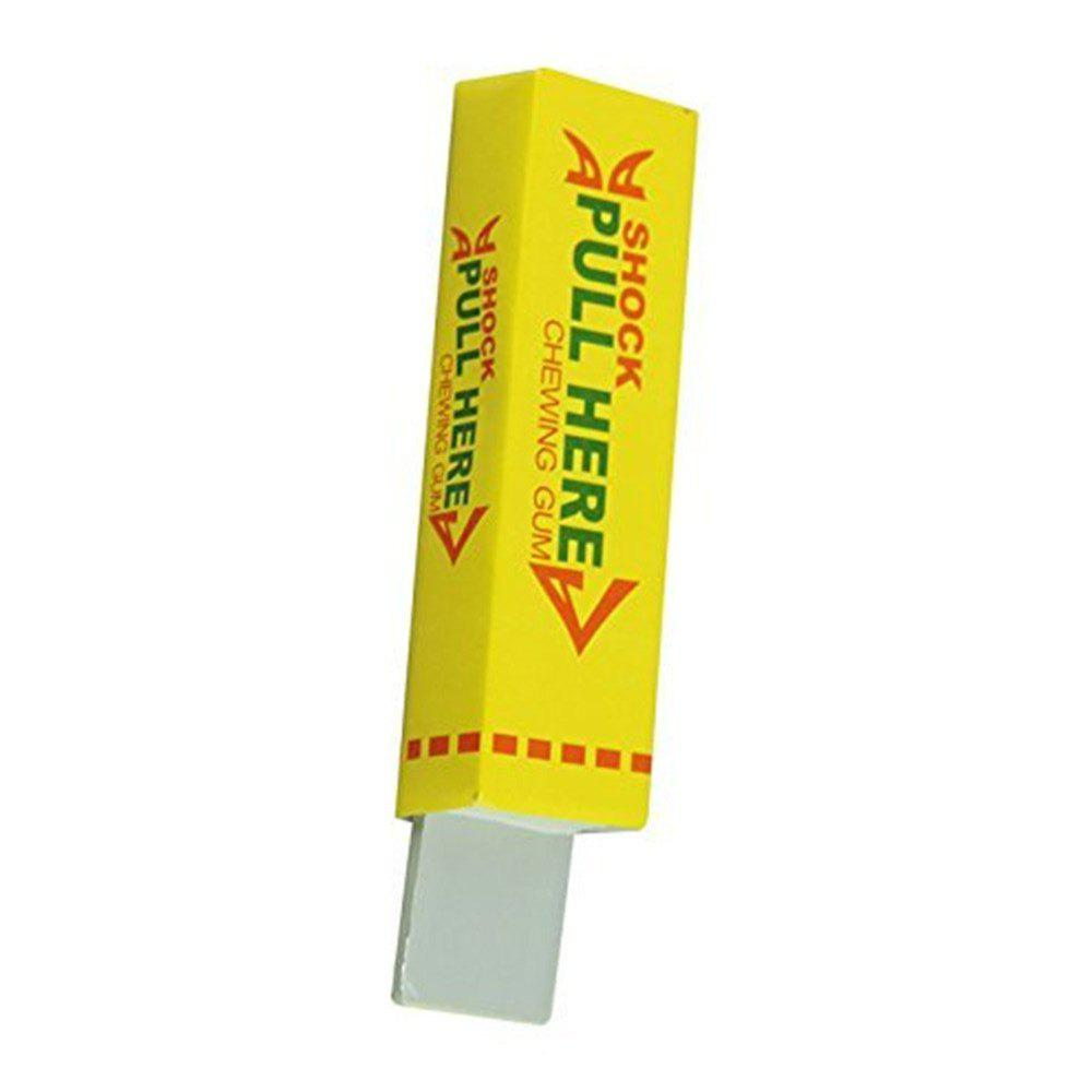 Electric Shocker Safety Trick Practical Joke Fantastic Toy Chewing Gum Toy - YELLOW