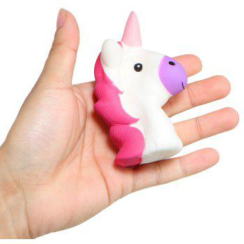 Unicorn Head Jumbo Squishy Cute Doll Squishies Slow Rising Phone Strap - WHITE