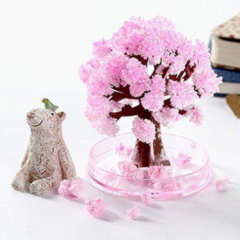Crystal Growing Sakura Paper Tree Cherry Novelty Toy - PIG PINK