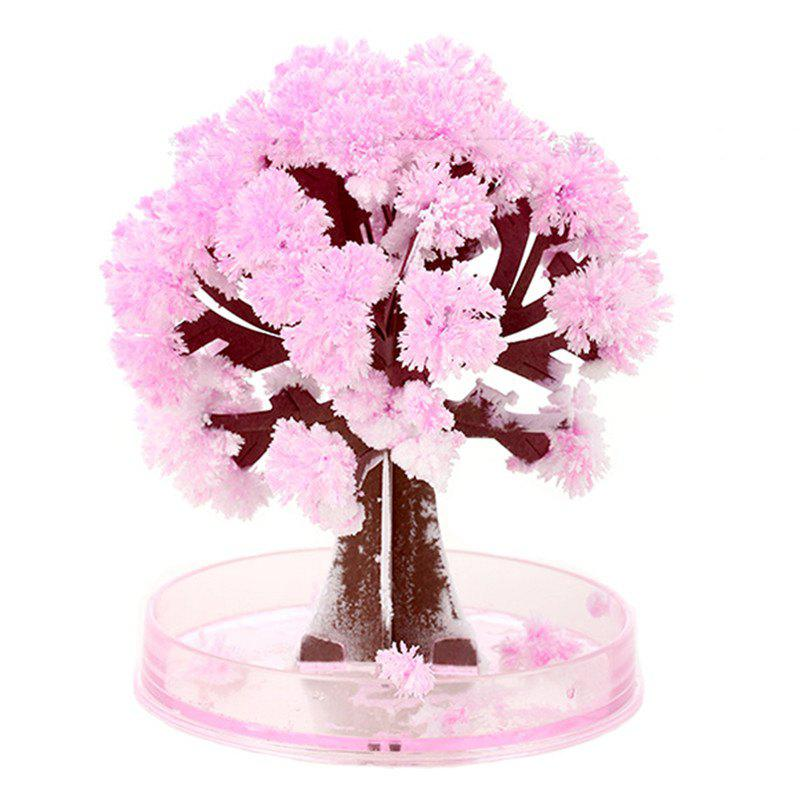 Crystal Growing Sakura Paper Tree Cherry Novelty Toy magic growing tree