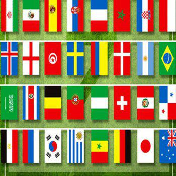 Football 32 Country  Flag String - multicolor