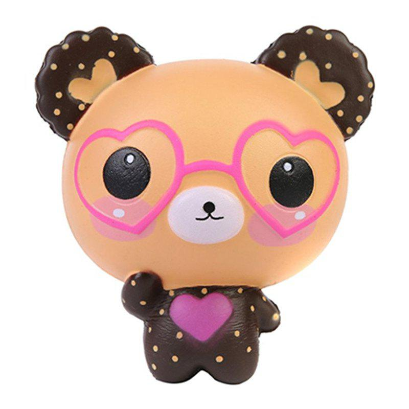 Jumbo Squishy Slow Rising Kawaii Cute Glasses Bear Toy jumbo squishy cute glasses bear scented charm super slow rising squeeze toy