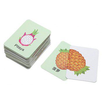 Baby Learn English Pair Puzzle Cognitive Card Infant 32pcs/Box - AVOCADO GREEN