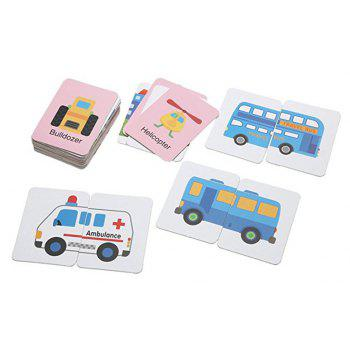 Baby Learn English Pair Puzzle Cognitive Card Infant 32pcs/Box - GOLDENROD