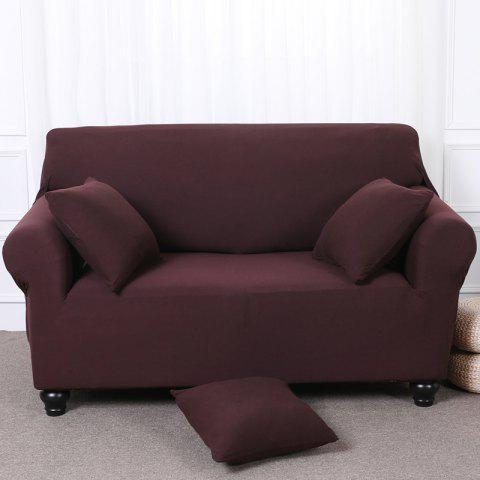 Elastic Tight Package Anti-Skid Pure Color Sofa Cover - COFFEE TWO-SEAT SOFA COVER154CM-185CM