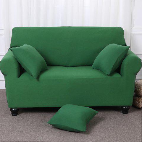Elastic Tight Package Anti-Skid Pure Color Sofa Cover - MEDIUM FOREST GREEN TWO-SEAT SOFA COVER154CM-185CM