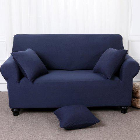 Elastic Tight Package Anti-Skid Pure Color Sofa Cover - BLUE WHALE TWO-SEAT SOFA COVER154CM-185CM