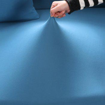 Elastic Tight Package Anti-Skid Pure Color Sofa Cover - BLUE LAGOON TWO-SEAT SOFA COVER 145CM-185CM