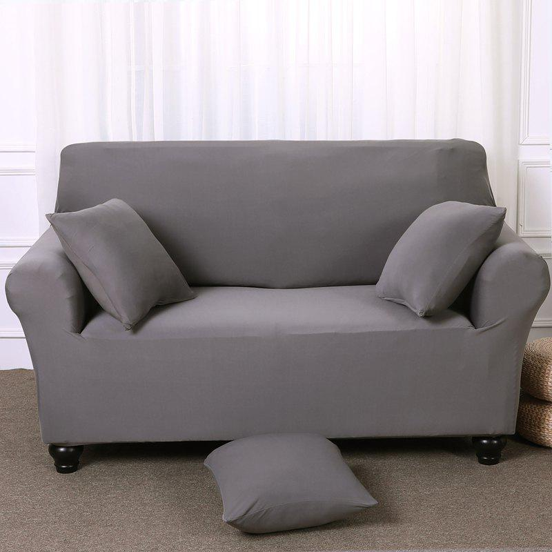 Elastic Tight Package Anti-Skid Pure Color Sofa Cover - PLATINUM ONE-SEAT SOFA COVER90CM-140CM