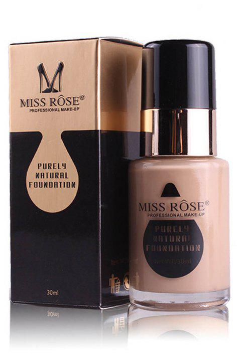 MISS ROSE New 30ML Glass Bottle Repair Nourishing Concealer Liquid Foundation - 004