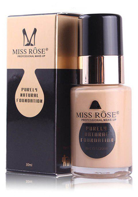 MISS ROSE New 30ML Glass Bottle Repair Nourishing Concealer Liquid Foundation - 005
