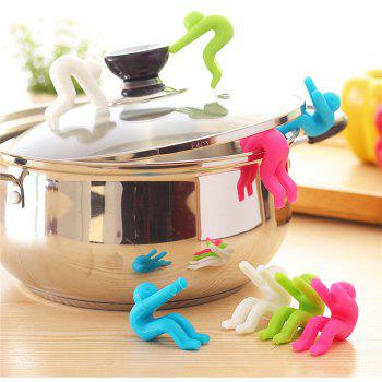 Creative Kitchen Utensils Silicone Pot Cover Anti-Overflow Device - RED