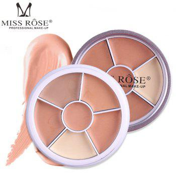 MISS ROSE 5 Color Round Silver Matte Cover Concealer -
