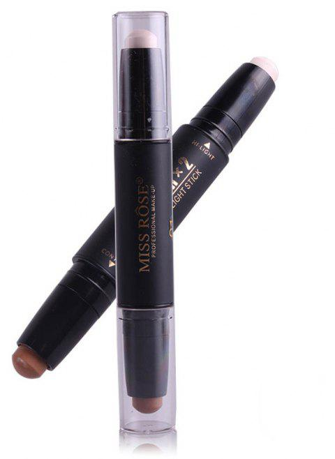 MISS ROSE Double Head Highlighter Shading Concealer Stick - 001