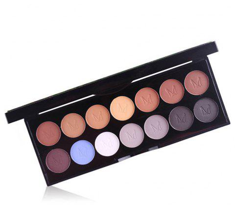 MISS ROSE 14 Pearlescent Matte Professional Makeup Multicolor Eyeshadow - 001