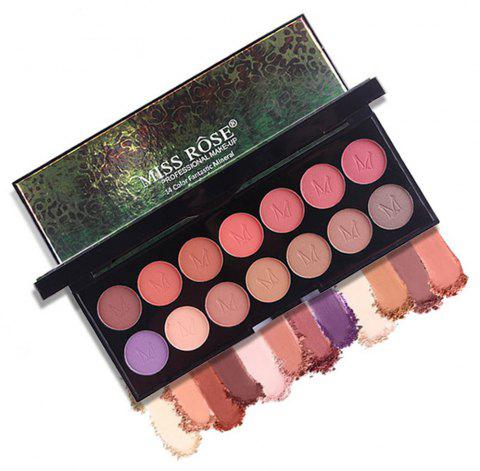 MISS ROSE 14 Pearlescent Matte Professional Makeup Multicolor Eyeshadow - 003