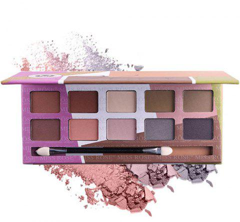 MISS ROSE 10 Color Pearl Matte Smoked Professional Makeup Eyeshadow - 005