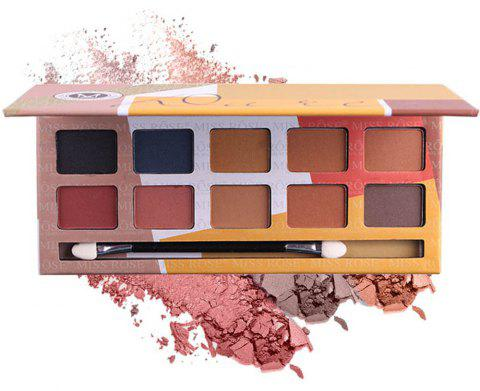 MISS ROSE 10 Color Pearl Matte Smoked Professional Makeup Eyeshadow - 006