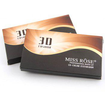MISS ROSE 18-Color High-Gloss Matte Eyeshadow -