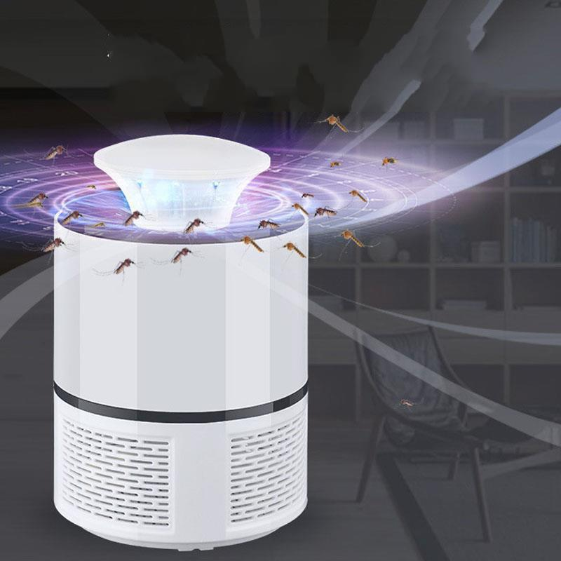 HNW - 365 Electric Mosquito Killer Lamp LED Bug Zapper - WHITE