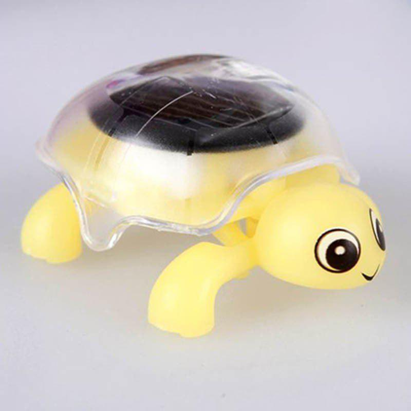 Creative Solar Energy Tortoise Shape Toys - YELLOW