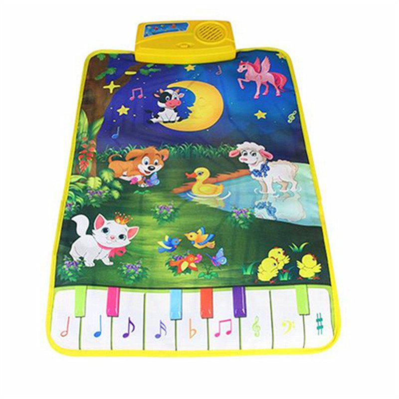 Cartoon Farm Development Music for Piano Blanket Carpet - multicolor
