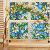 Orchid Stained French Window Film Glazed Door Decorative Sticker - multicolor A 45CM X100CM