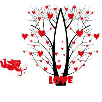 Fower Tree Wall Sticker  Mural   Home Living Room Bedroom Decor - BEAN RED