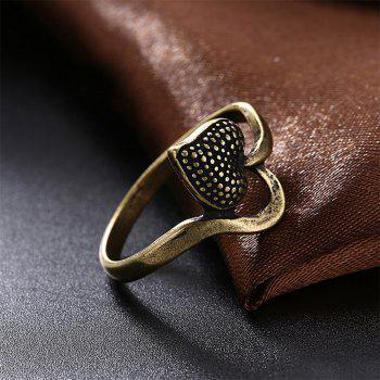 Vintage Heart Shape Ring Charm Jewelry - BRONZE US SIZE 9