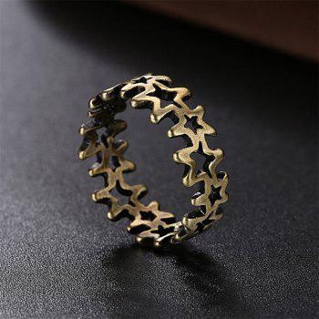Vintage Hollow Out Pentagram Ring Charm Jewelry - BRONZE US SIZE 9