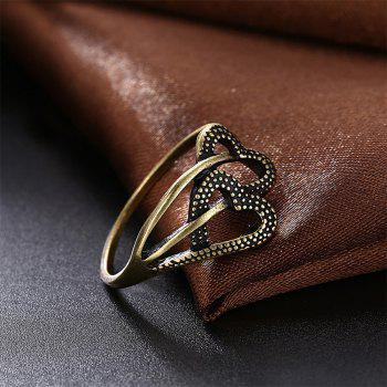 Vintage Romantic Hollow Out Double Heart Ring - BRONZE US SIZE 8
