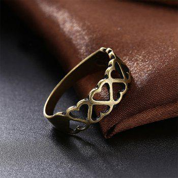 Vintage Hollow Out Heart Ring Charm Jewelry - BRONZE US SIZE 6