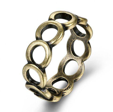Vintage Creative Hollow Out Circular Ring - BRONZE US SIZE 8