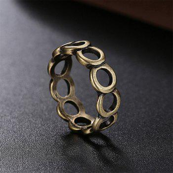 Vintage Creative Hollow Out Circular Ring - BRONZE US SIZE 7
