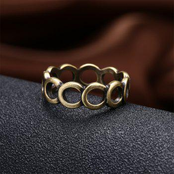 Vintage Creative Hollow Out Circular Ring - BRONZE US SIZE 9