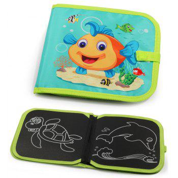 Educational Toys Children Graffiti Soft Panel Multi-function Writing Board Ocean - GREEN