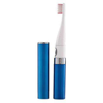 Electric Toothbrush Adult Battery Automatic  Vibration Soft Ultrasonic - BLUE
