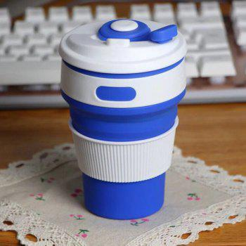 Silica Gel Folding Portable Water Cup Bottle for Sporting Yoga Running - DEEP BLUE
