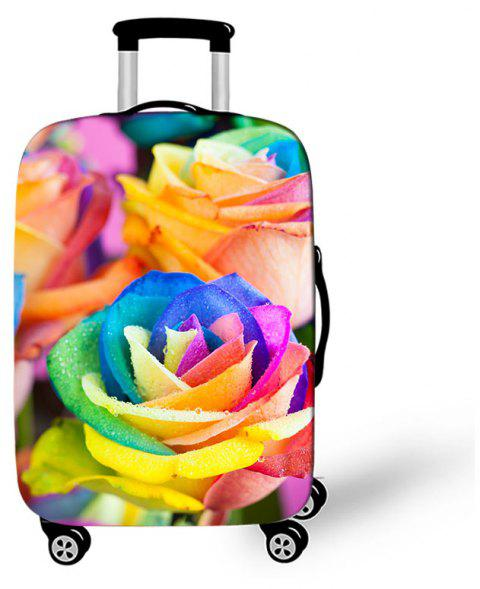 Colorful Flower Elastic Protective Luggage Cover - multicolor B S
