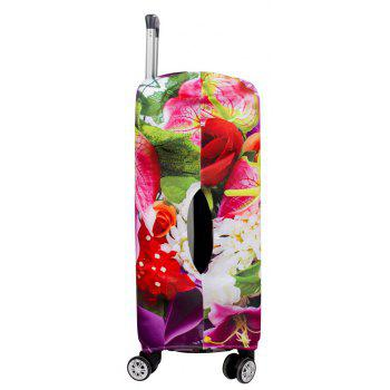 Colorful Flower Elastic Protective Luggage Cover - multicolor A M