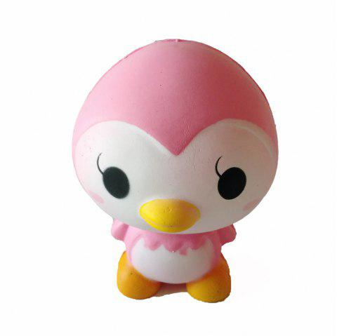 New Jumbo Squishy Slow Rebound PU Toy Pink Little Penguin Toy - multicolor A