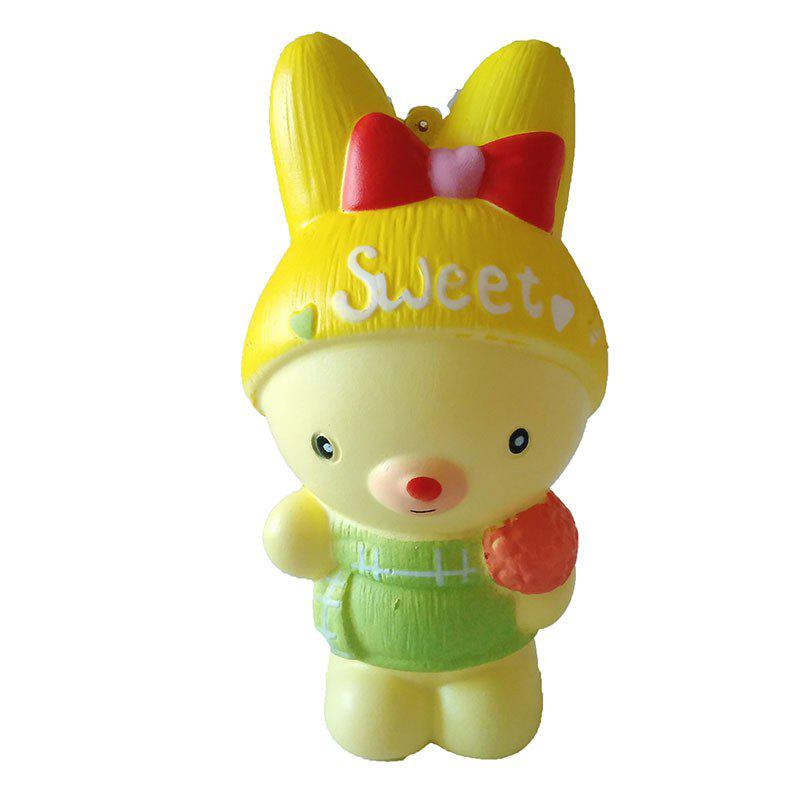 New Slow Rebound Toy Jumbo Squishy PU Bow Bear Toy Model new creative plush bear toy cute lying bow teddy bear doll gift about 50cm