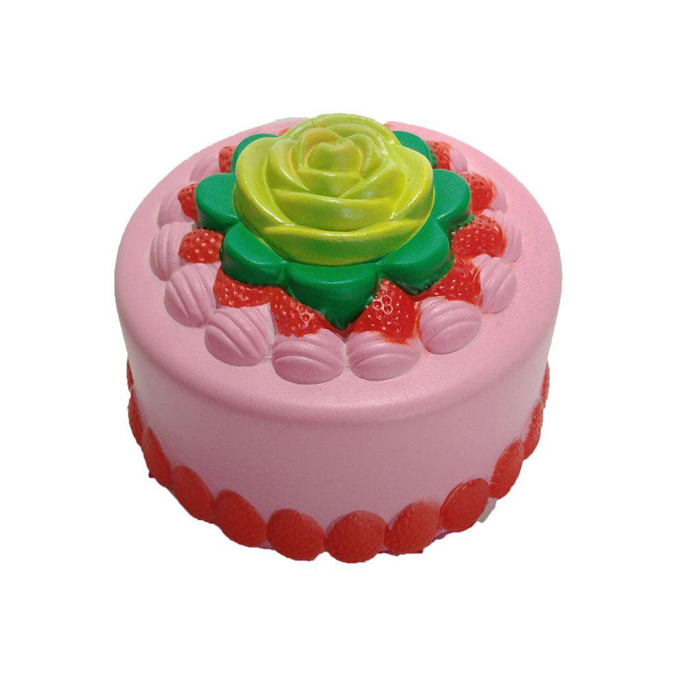 New Slow Rebound Toy Jumbo Squishy PU Simulation Bakery Cake - multicolor A
