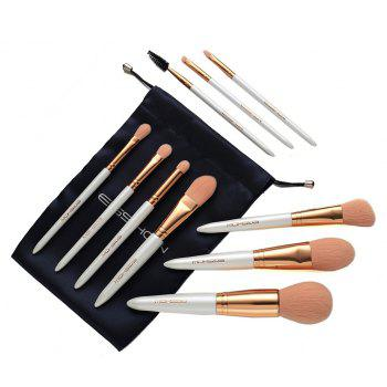 EIGSHOW Makeup Set 10PCS Vegan Brush Kit Champaign&Rose Gold&Light Gun Black - ROSE GOLD