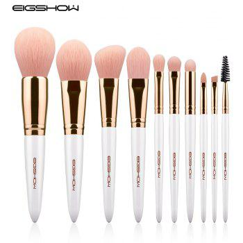 EIGSHOW Makeup Brushes Cosmetic Kit for Foundation Powder Eyebrow Eyeshadow Lip 10PCS / Set - multicolor C