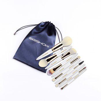 EIGSHOW Makeup Brushes Cosmetic Kit for Foundation Powder Eyebrow Eyeshadow Lip 10PCS / Set - multicolor D