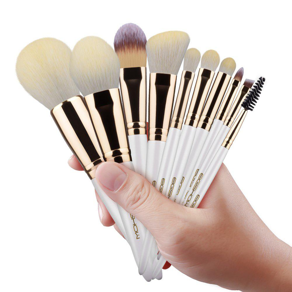 Фото EIGSHOW Makeup Brushes Cosmetic Kit for Foundation Powder Eyebrow Eyeshadow Lip 10PCS / Set makeup organizer travel bag women cosmetic bags summer dumpling clutch women packages waterproof cosmetic bag handbag