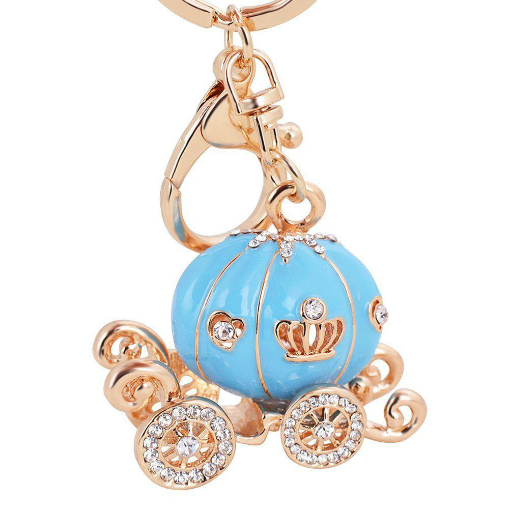 EASYA Keychain Fashion Luxury Car Key Ring Grade Resin Pumpkin Car Diamond - EARTH BLUE