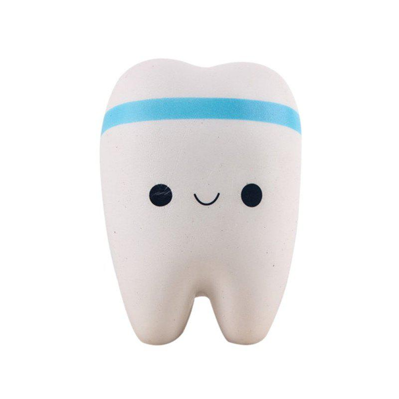 Jumbo Squishy Kawaii Cute Adorable Teeth Soft Slow Rising Toy - DENIM BLUE