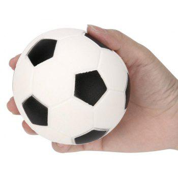 Squeeze Football Jumbo Squishy Slow Rising Toy - WHITE